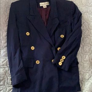 Vtg .Christian Dior double breasted purple blazer